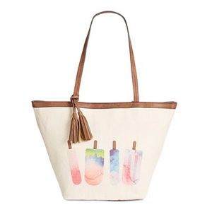 NWT Style & CO Canvas Popsicle Tote Shoulder Bag